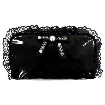 RECTANGULAR COSMETIC 「BLACK PEARL PATENT」 6511-K564