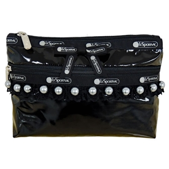 COSMETIC CLUTCH 「BLACK PEARL PATENT」 7105-K564