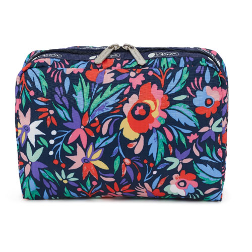 EXTRA LARGE RECTANGULAR COSMETIC 「PAREO PRINT」7121-E187