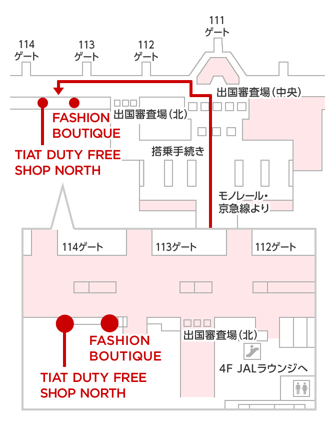 TIAT DUTY FREE SHOP NORTH マップ