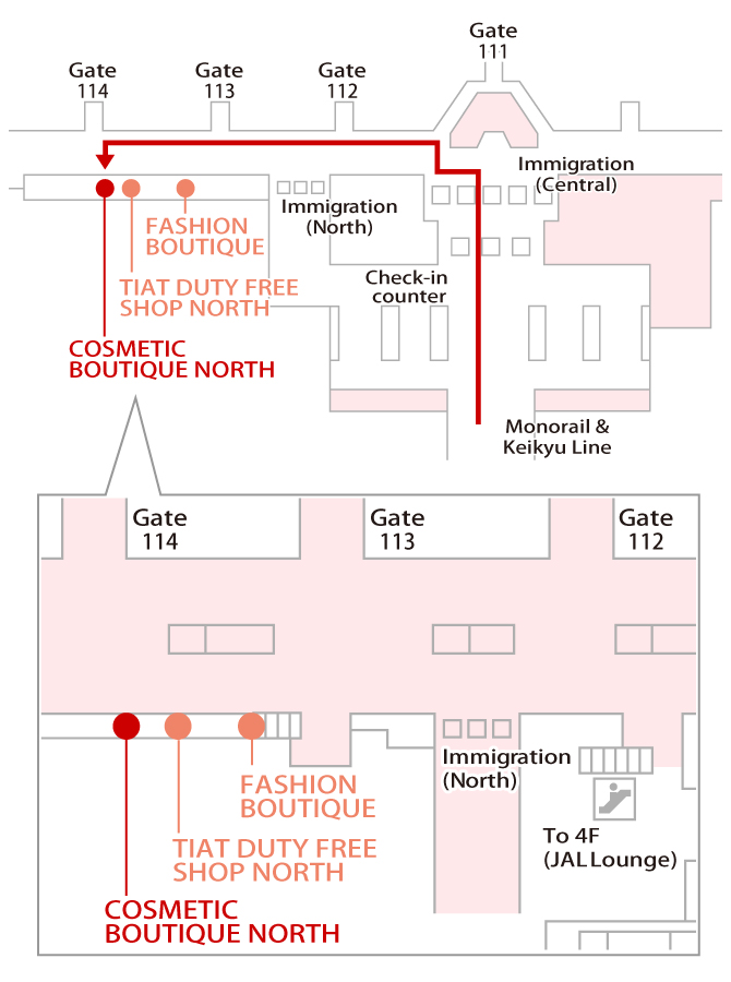 COSMETIC BOUTIQUE NORTH Map