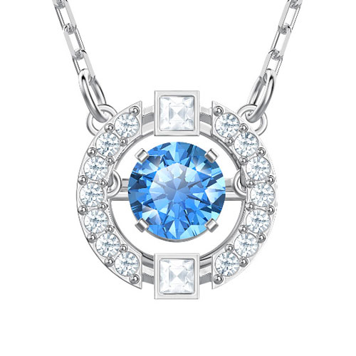 990460730c735 Sparkling Dance Round Set, Blue, Rhodium plating 5480485: FASHIONJAL ...