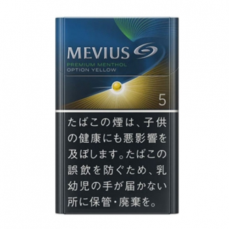 MEVIUS PREMIUM MENTHOL OPTION YELLOW 5 KS BOX 5mg