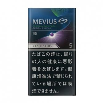 MEVIUS PREMIUM MENTHOL OPTION PURPLE 5 100's SLIMS 5mg