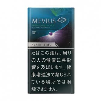 MEVIUS PREMIUM MENTHOL OPTION PURPLE 1 100's SLIMS 1mg