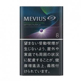 MEVIUS PREMIUM MENTHOL OPTION PURPLE KS BOX 8mg