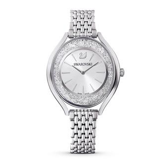 【SALE】Crystalline Aura Watch, Metal Bracelet, Silver tone, Stainless steel 5519462