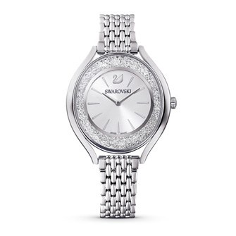 Crystalline Aura Watch, Metal Bracelet, Silver tone, Stainless steel 5519462