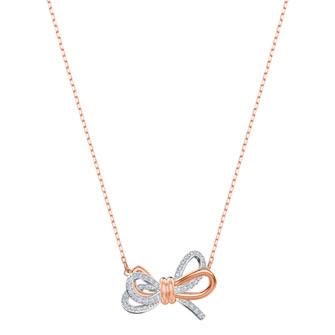 【SALE】Lifelong Bow Pendant, White, Mixed plating 5440636