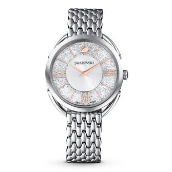 Crystalline Glam Watch, Metal bracelet, White, Stainless steel 5455108
