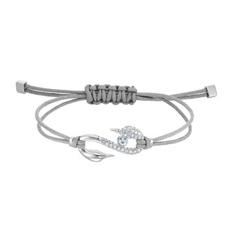 【SALE】POWER COLLECTION HOOK BRACELET, GRAY, RHODIUM PLATED 5511778